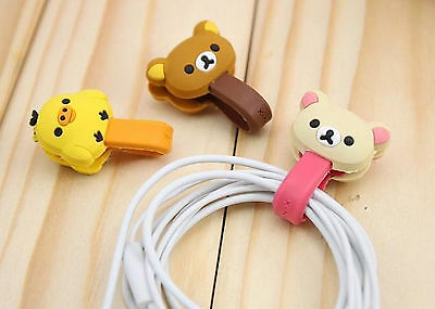 3pcs Earphone Cord Wire Bobbin Winders Wrap Organizer Earbud Cable Ties Holders
