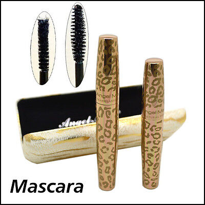 Angel Mask Thickening & Lengthening Black Mascara with Natural Fibres Gold Case