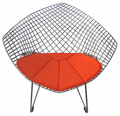 Cushion for Bertoia Diamond Chair - Vinyl - Many Colors Available - Eames Era