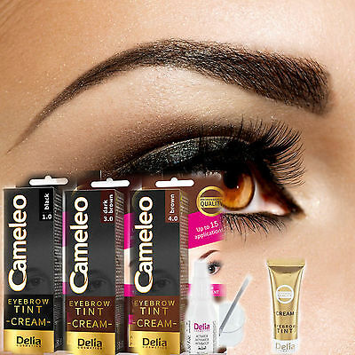 Cameleo NEW HENNA GEL FOR EYEBROWS AND LASHES BLACK DARK BROWN, BROWN
