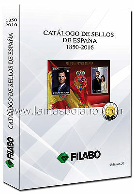 Catalogo - Catalogue - Book De Sellos De España Filabo 1850-2016 A Color