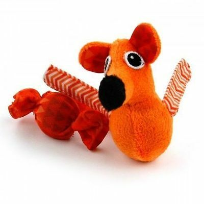 ALL FOR PAWS AFP MODERN CAT SWEET TOOTH MOUSE TOY ORANGE kitty catnip crinkle
