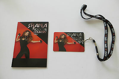 Shania Twain Rock This Country Tour Exclusive VIP Photo Book/Program + Laminate
