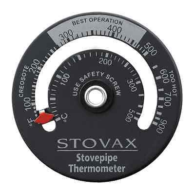 Stovax Stove Flue Pipe Magnetic Thermometer for Woodburner and Multi-Fuel Stoves