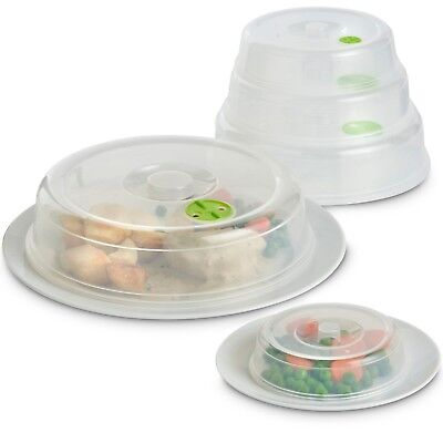 VonShef Set of 5 Ventilated Microwave Food Plate Covers Lids