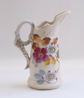 Victoria Carlsbad Austria Creamer Hand Painted Florals Gold Accents Marked