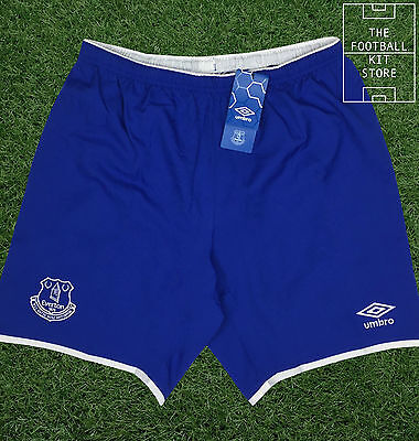Everton Home Shorts - Official Umbro Football Shorts - Mens - All Sizes