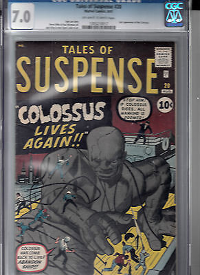 TALES OF SUSPENSE #20 (Aug 1961) CGC 7.0 (F/VF)  2nd app. of COLOSSUS
