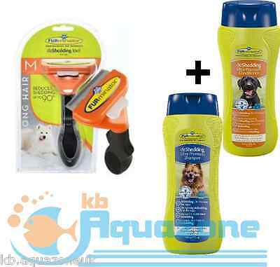 FURMINATOR DOG M LONG HAIR + Premium Dog Conditioner + SHAMPOO 250ml