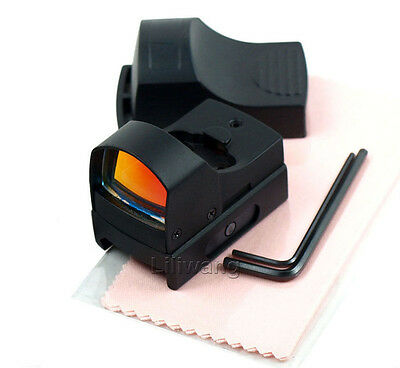 Tactical Mini Holographic Reflex Micro 3 MOA Red Dot Sight with Picatinny Weaver