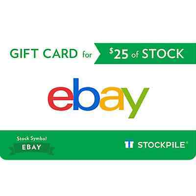 $25 or $50 Value eBay Stock via Stockpile Gift Card - Email delivery