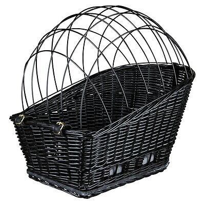 Bike basket with lattice for Carrier black for small dogs bike