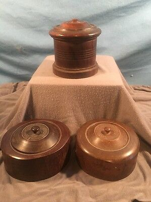 3 Vintage Wooden Containers