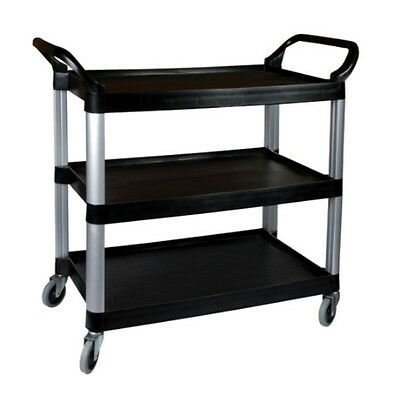 3 Tier Level Trolley Food Mobile Cart Trolley Storage Mechanic Kitchen Black NEW