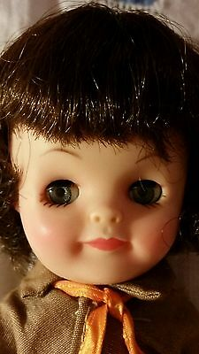 "1965 VINTAGE EFFANBEE FLUFFY 8"" BROWNIE All Original"