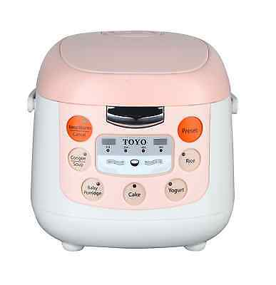 TOYO Multi Function Rice Cooker MB-FS20D 2 Litres Cooking/Keep Warm 4 Cups - New
