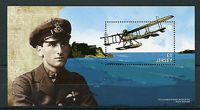 Jersey 2015 MNH WWI Great War Part II Change 1v M/S Mossop Wight Seaplane Stamps