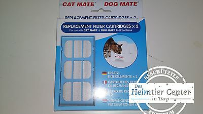 Cat Mate 1 x 2 Filtre de rechange Fontaine Potions Chat
