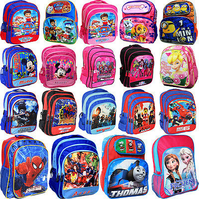 New Large Kids Backpack School Bag Boys Girls Disney Frozen Paw Monster High