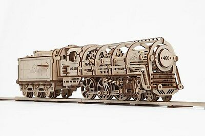 UGears NEW MODEL mechanical wooden 3D puzzle - LOCOMOTIVE