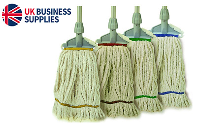 Kentucky Washable Mop & Optional Handle, Four Colour Coded Mops & Wet Floor Sign