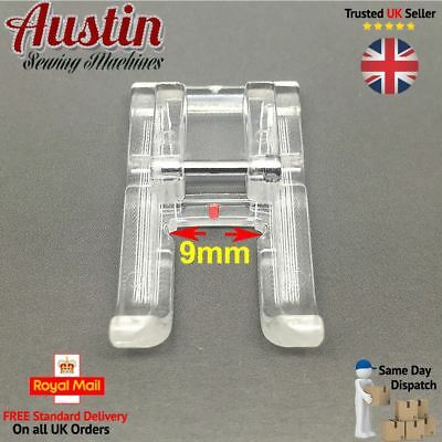 Clear Open Toe Embroidery Foot - For Domestic Sewing Machines Snap On Presser UK