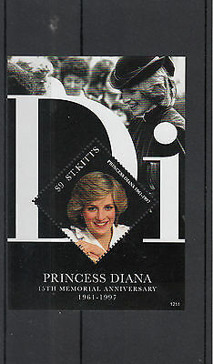 St Kitts 2012 MNH Princess Diana 15th Memorial Anniversary 1v S/S Royalty Stamps