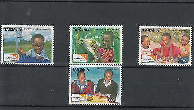 Tanzania 2011 MNH World Vision 4v Set Child Clean Water Food Health Stamps