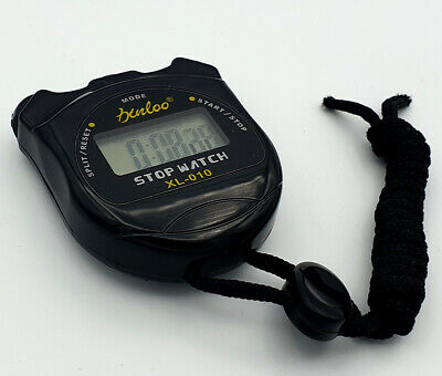 Digital Handheld Sports Stopwatch Double Count Time Clock Alarm Timer Mode