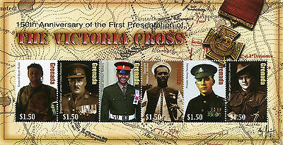 Grenada 2007 MNH Victoria Cross 150th Ann First Presentation 6v MS Medals Stamps