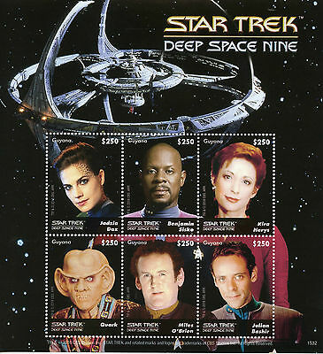 Guyana 2015 MNH Star Trek Deep Space Nine 6v M/S Benjamin Sisko Quark Stamps