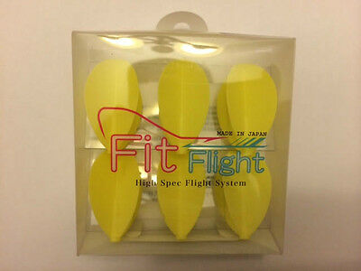 Cosmo Fit Flights Pack Of 6 Yellow Pear Shape