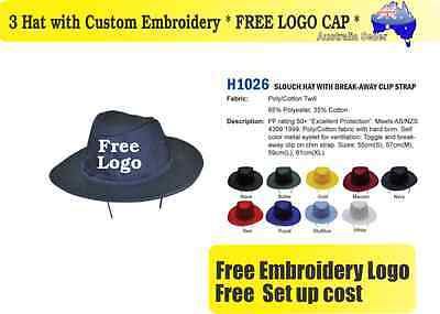 3 Custom Embroidered Bucket Hats * FREE LOGO Embroidery *TEAM CAP SPORTS CAPS*01