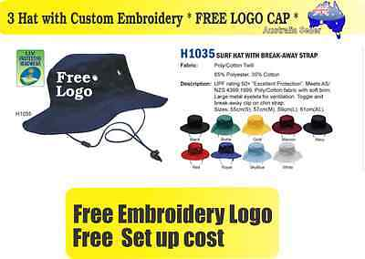 3 Custom Embroidered Bucket Hats * FREE LOGO Embroidery *TEAM CAP SPORTS CAPS*02