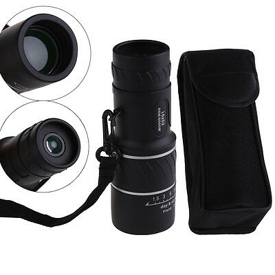 Protable Mini 16x52 Monocular Spotting Scope Single Tube travel Telescope +Pouch