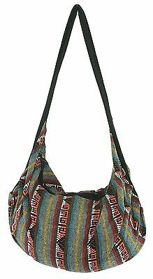 BOHO Knitted Cotton Backpack Tote Bag Multicoloured