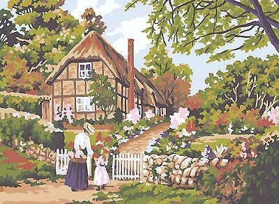 Grafitec Printed Tapestry/Needlepoint Canvas – Cottage Gate