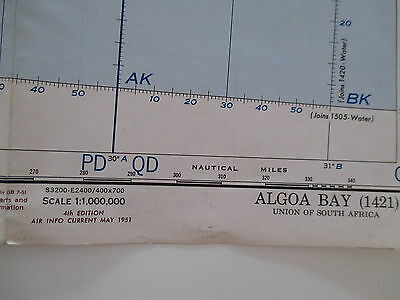 World Aeronautical Chart  (1421) Algoa Bay 1951