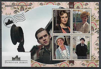 Mayreau Gren St Vincent 2014 MNH Downton Abbey 4v M/S II Matthew Crawley Stamps