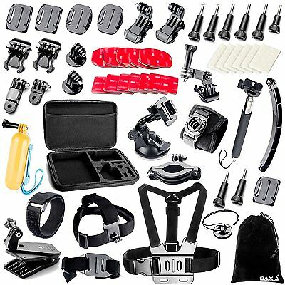 BAXIA Accessories Kit for GoPro HERO 5 Session 4 3+ 3 2 1 Cameras - Black Silver
