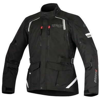 Alpinestars Andes Drystar Waterproof Textile Motorcycle Touring Jacket - Black