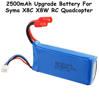7.4V 2500mAh Lipo Battery Fr Syma X8C X8W Venture RC Quadcopter Drone Spare Part