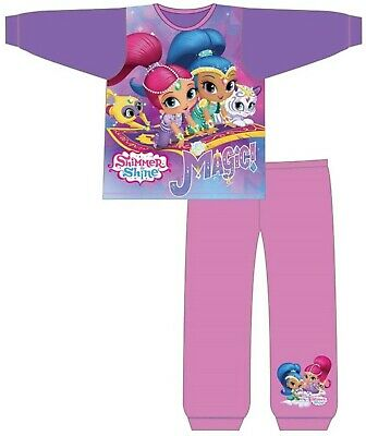 Girls Kids Nightwear Girls Character Shimmer Shine Long Sleeve Pyjamas Pjs set