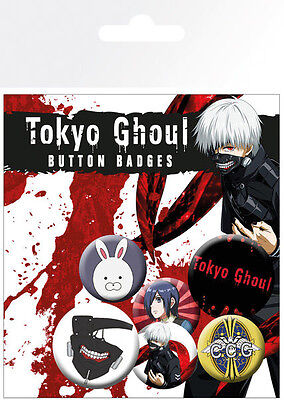 Tokyo Ghoul Ansteck-Buttons 6er-Pack Mix