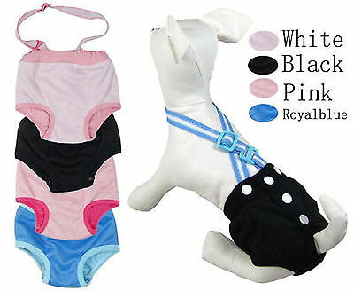 Female dog physiological pants comes in pink, black,royal-blue Size XS to XXL
