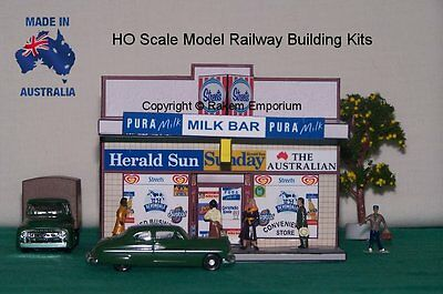 HO Scale Shop Local Milk Bar, Model Railway Building Kit - HOLMB1