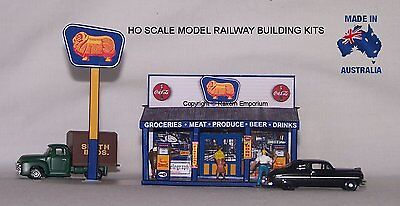 HO Scale Golden Fleece Country Store & Petrol Model Railway Building Kit - GFCS1