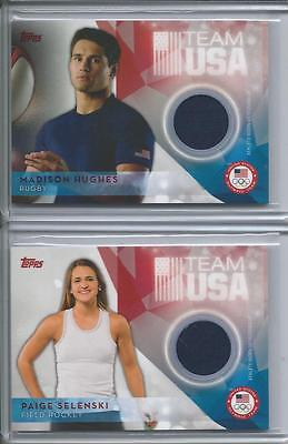 2016 Topps Olympic Madison Hughes TEAM USA Rugby Relic