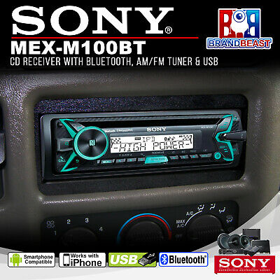 Sony Marine Mex-m100bt 4 X 100 Watt High Power Boat Source Unit Cd Bt Usb Apps