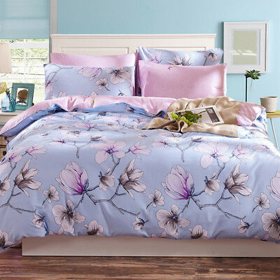 Floral Doona Duvet Quilt Cover Set King/Single/Queen Size Bed Covers New Cotton
